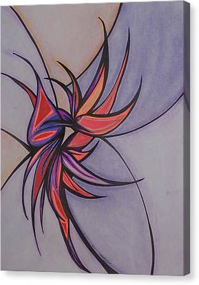 Bird Of Paradise Canvas Print by Tara Francoise