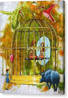 Birdcage Canvas Print by Baird Hoffmire