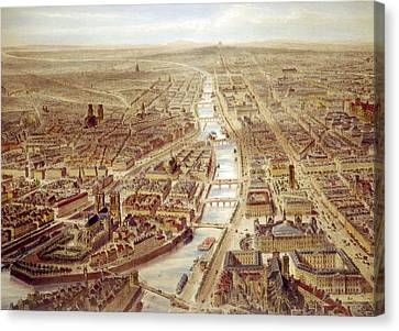 Birds-eye View Above The St. Gervais Canvas Print by Everett