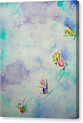 Birds On The Clouds  Canvas Print by Asida Cheng