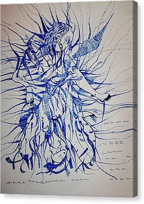 Birth Canvas Print by Gloria Ssali