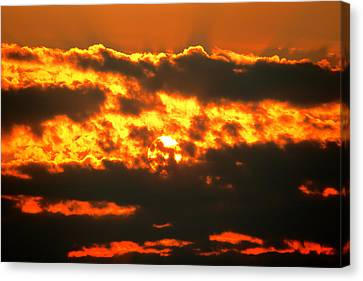 Birth Of A Sun Canvas Print by Metro DC Photography