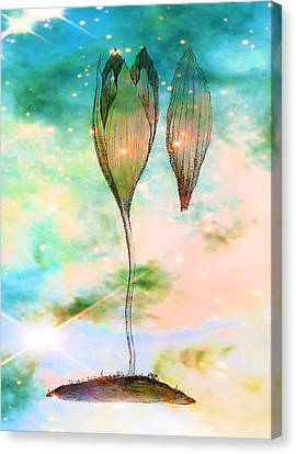 Birth Of A Triffid Canvas Print by Sarah Vernon