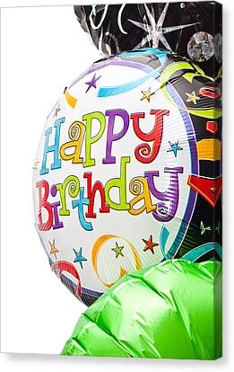 Birthday Balloons Canvas Print by Tom Gowanlock
