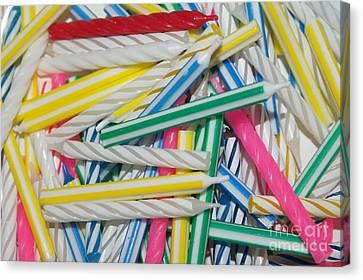 Birthday Candles Canvas Print by Lynda Dawson-Youngclaus