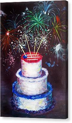 Birthday In America Canvas Print by Ann Marie Napoli