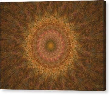 Birthing Mandala 18 Canvas Print by Rhonda Barrett