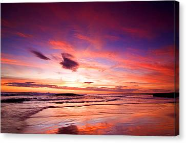 Birubi Point Sunset Canvas Print by Paul Svensen