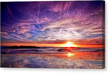 Birubi Point Sunset Redux Canvas Print by Paul Svensen