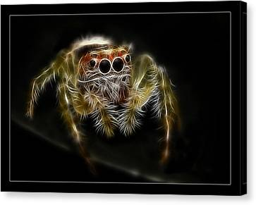 Canvas Print featuring the digital art Bite Me by Kevin Chippindall