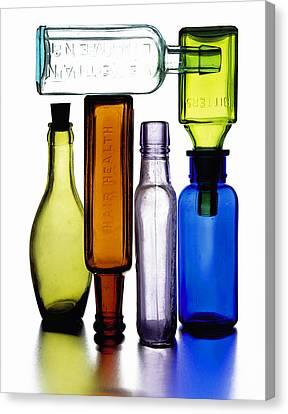 Bitters Bottles Canvas Print by Michael Kraus