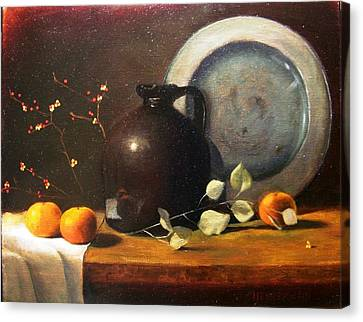 Bittersweet And Molasses Jug Canvas Print by Tom Jennerwein
