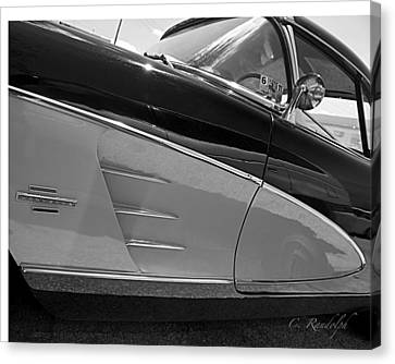 Canvas Print featuring the photograph Black And Chrome by Cheri Randolph