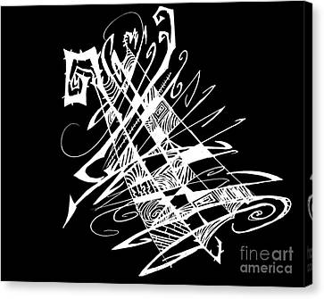 Black And White And Abstract All Over Canvas Print by Stef Schultz Sorry Little Sharky