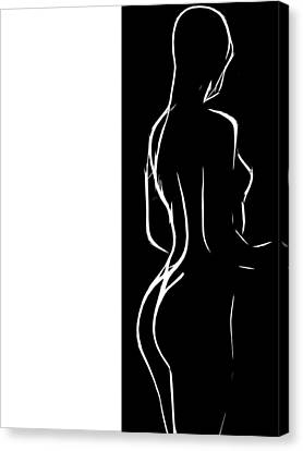 Black And White Erotic Canvas Print by Steve K