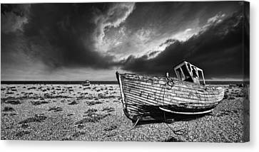 Black And White In Dungeness Canvas Print