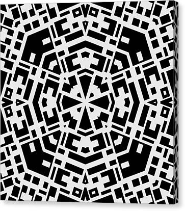 Black And White Kaleidoscope Canvas Print by David G Paul