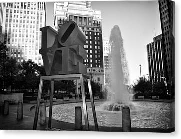 Black And White Love Canvas Print by Bill Cannon
