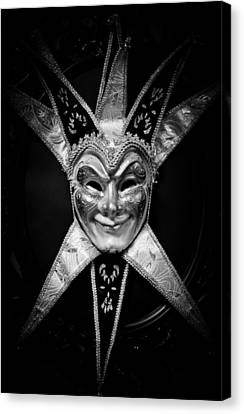 Black And White Trickster Canvas Print by Robert Hellstrom