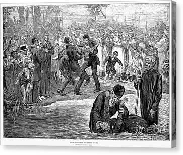 Black Baptism, 1887 Canvas Print by Granger