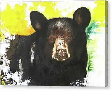 Black Bear Canvas Print by Anthony Burks Sr