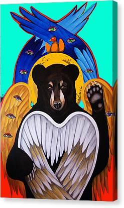 Black Bear Seraphim Photoshop Canvas Print by Christina Miller