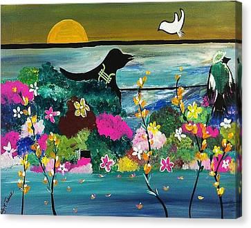 Black Birds Canvas Print