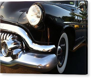 Canvas Print featuring the photograph Black Buick 1952 by Elizabeth Coats