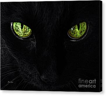 Black Cat Mystique Canvas Print by Dale   Ford