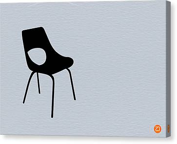 Black Chair Canvas Print by Naxart Studio