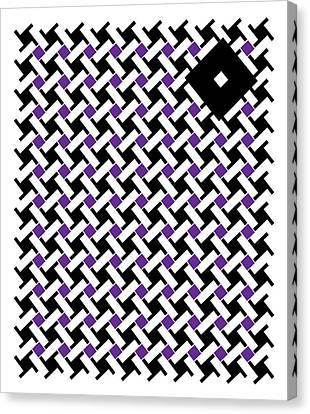 Black Flag 4. Canvas Print by Nancy Mergybrower