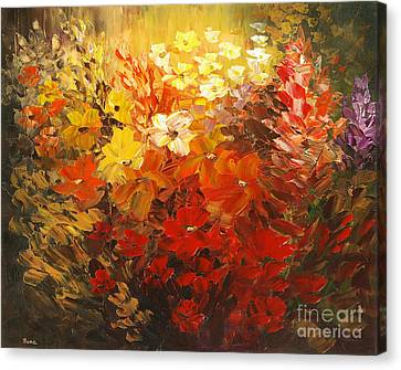 Canvas Print featuring the painting Black Forest Hotel by Tatiana Iliina