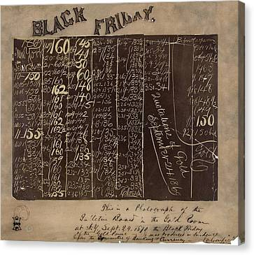 Black Friday Gold Prices, 1869 Canvas Print