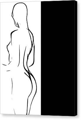 Black Girl White World Canvas Print by Steve K