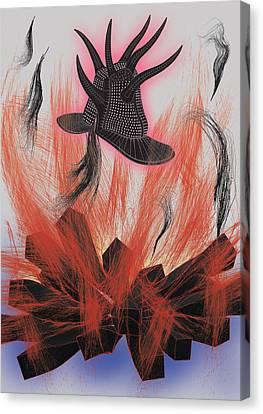 Black Hat Canvas Print by Foltera Art