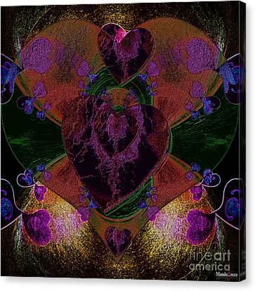 Black Heart Color Canvas Print