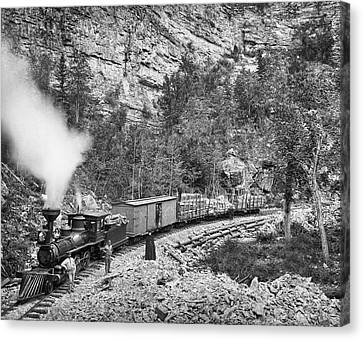 Black Hills And Fort Pierre Railroad C. 1890 Canvas Print