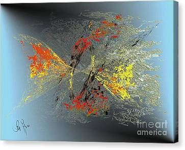 Canvas Print featuring the digital art Black Hole IIi by Leo Symon