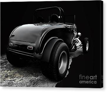 Black Jalopy Canvas Print by Jerry L Barrett