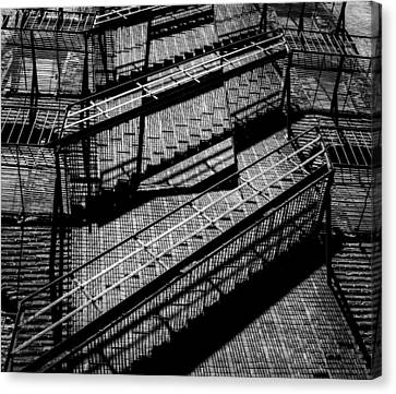Fire Escape With Shadow Detail Canvas Print
