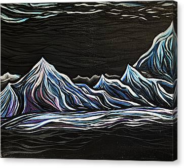 Black On Black Canvas Print by Stephanie Meyer