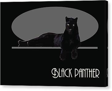 Black Panther  Canvas Print by Quim Abella