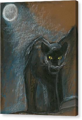 Black Panther Canvas Print by Kim Hegedus