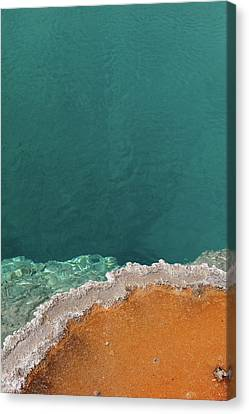 Black Pool Canvas Print by Andreina Schoeberlein