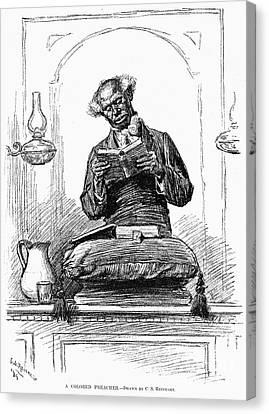 Black Preacher, 1890 Canvas Print by Granger