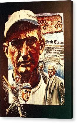 Black Sox Canvas Print by Ken Meyer jr