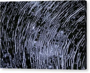 Black Water White Foam Canvas Print