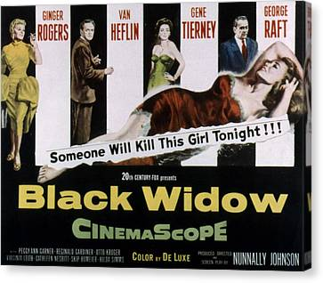 Black Widow, Ginger Rogers, Van Heflin Canvas Print