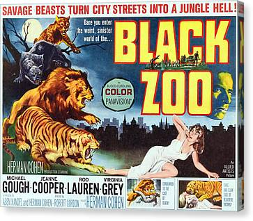 Black Zoo, Middle Right Michael Gough Canvas Print by Everett
