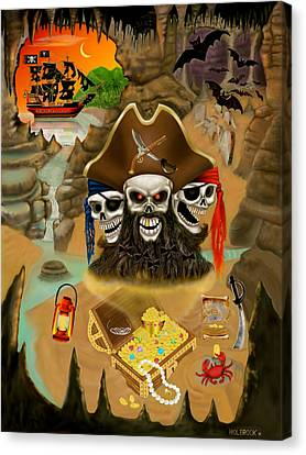 Blackbeard's Haunted Treasure Canvas Print by Glenn Holbrook